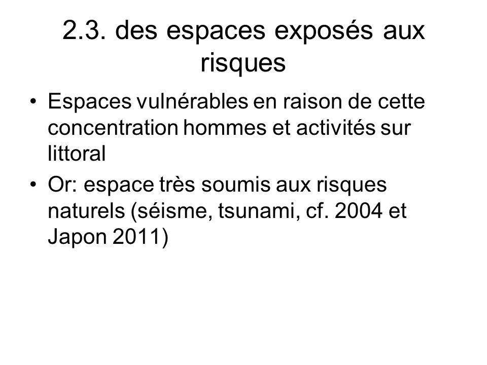 2.3. des espaces exposés aux risques