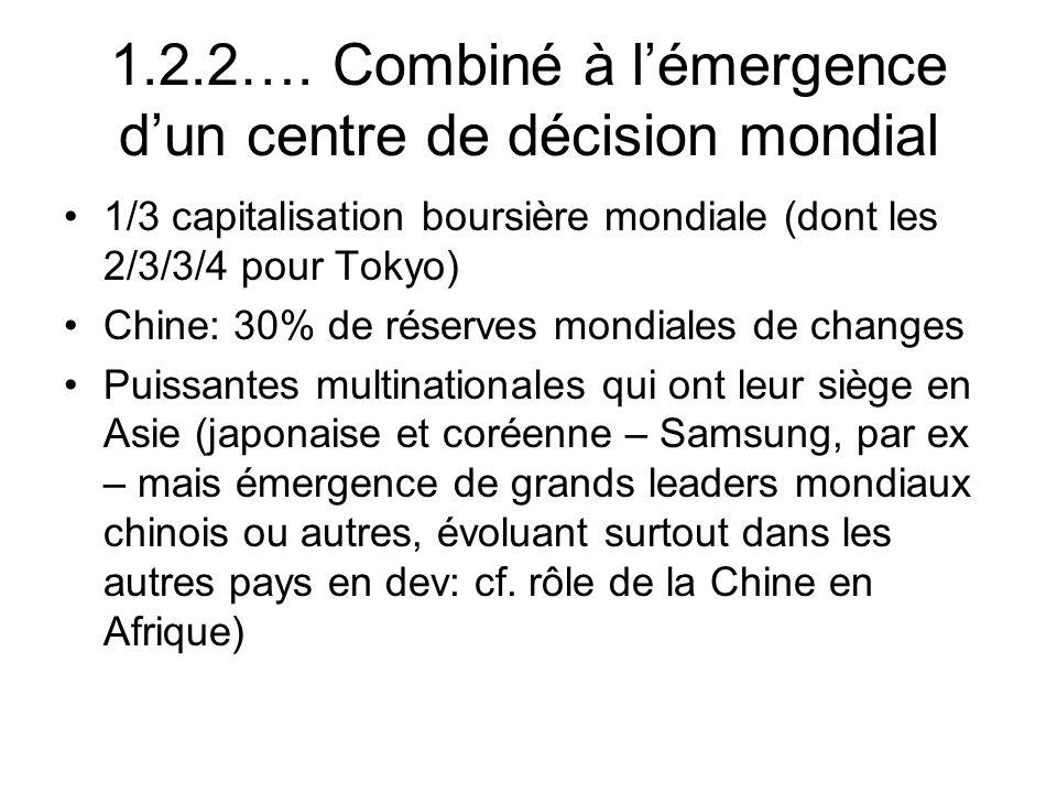 1.2.2…. Combiné à l'émergence d'un centre de décision mondial