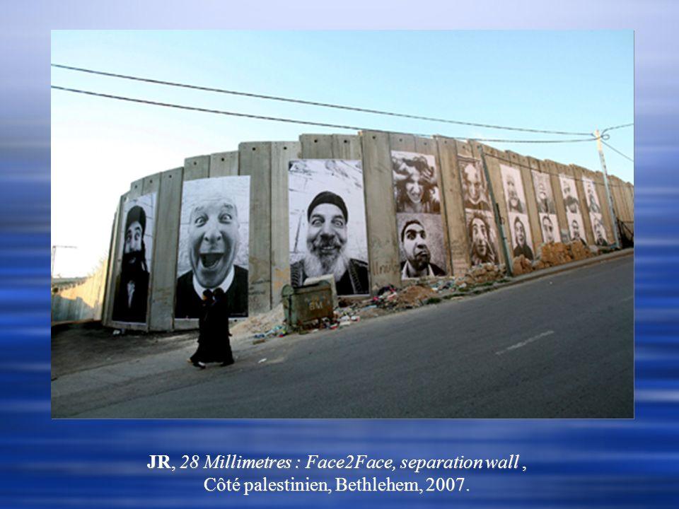 JR, 28 Millimetres : Face2Face, separation wall , Côté palestinien, Bethlehem, 2007.