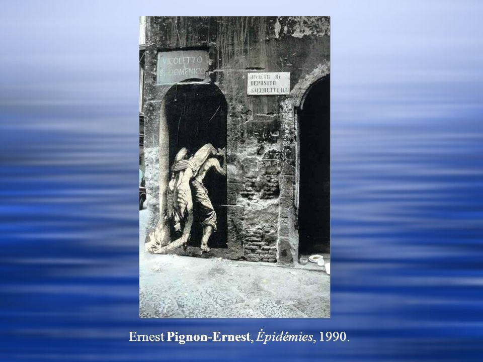 Ernest Pignon-Ernest, Épidémies, 1990.