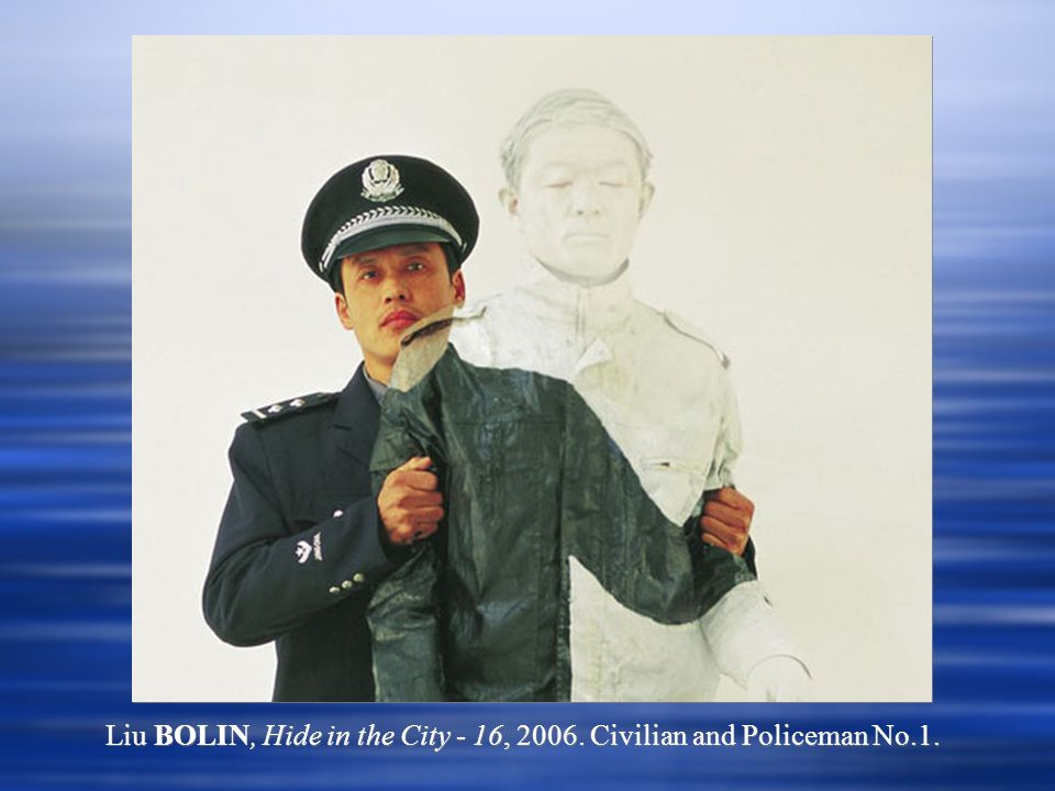 Liu BOLIN, Hide in the City - 16, 2006. Civilian and Policeman No.1.