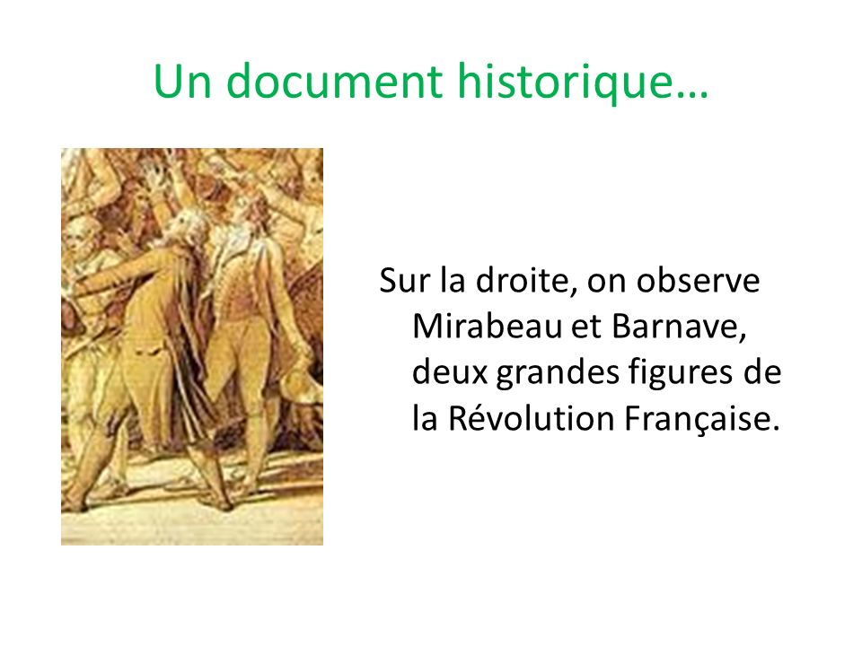Un document historique…