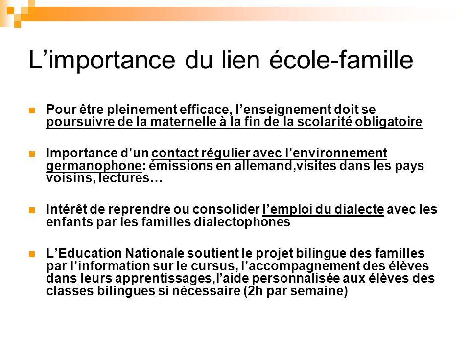 L'importance du lien école-famille