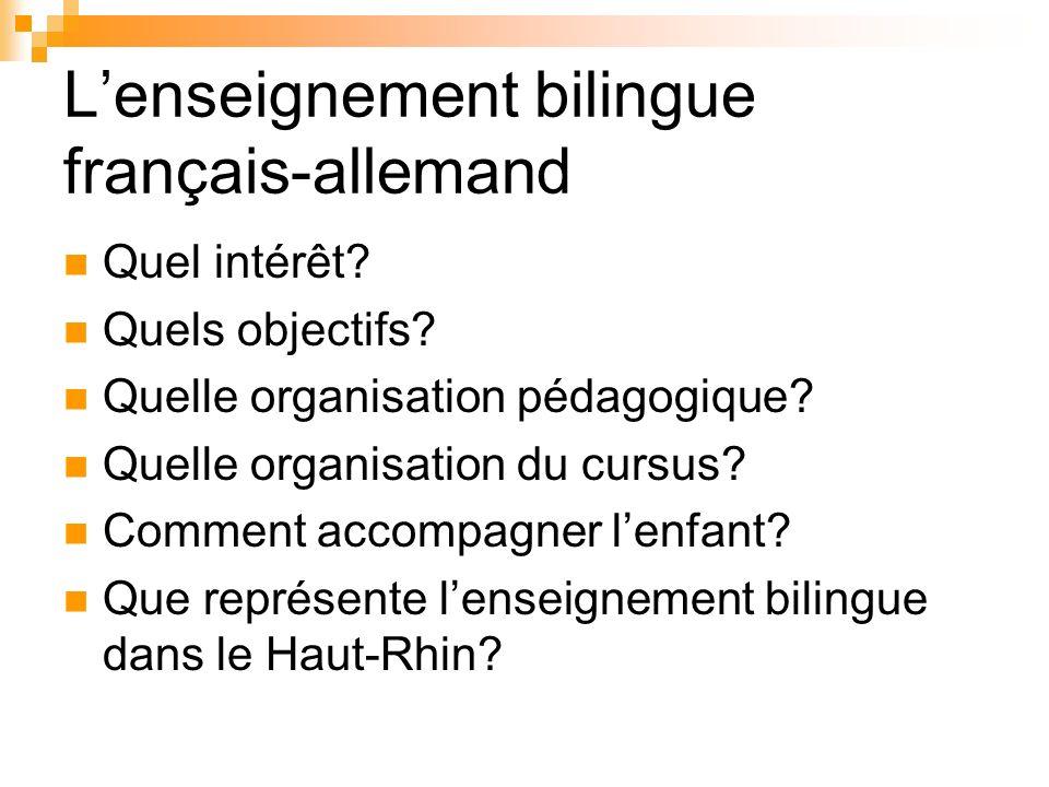 L'enseignement bilingue français-allemand