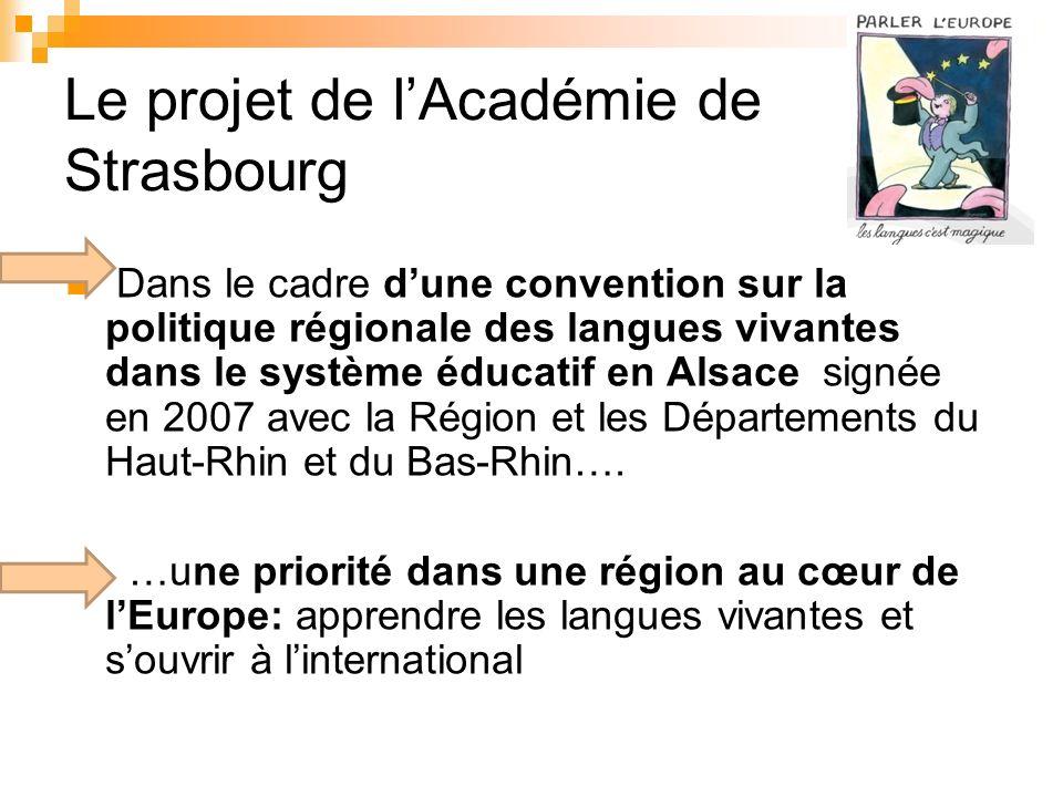 Le projet de l'Académie de Strasbourg
