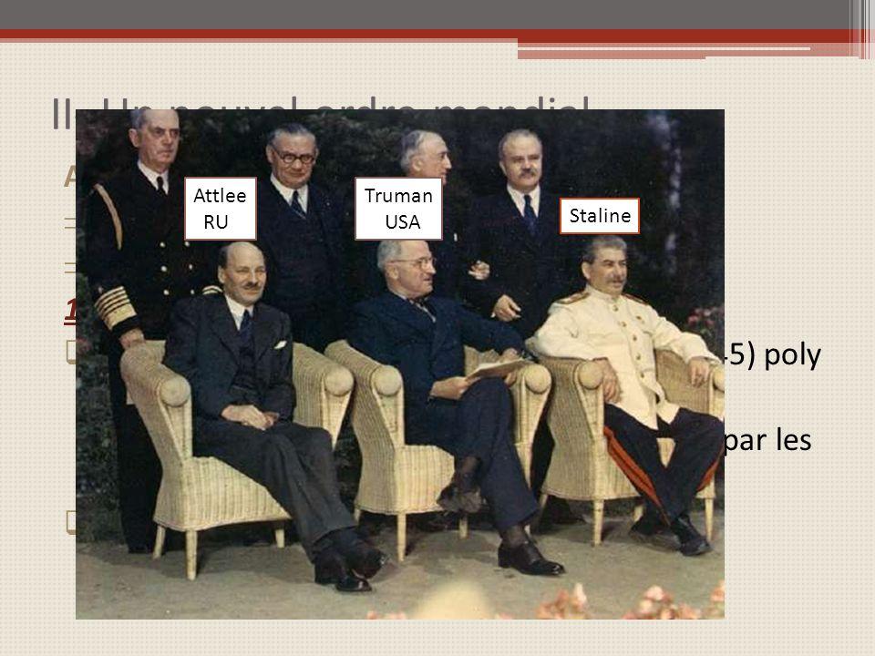 II- Un nouvel ordre mondial