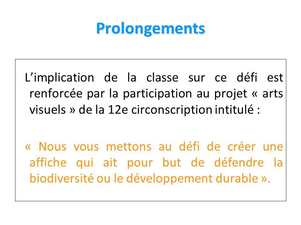 1313 Prolongements.