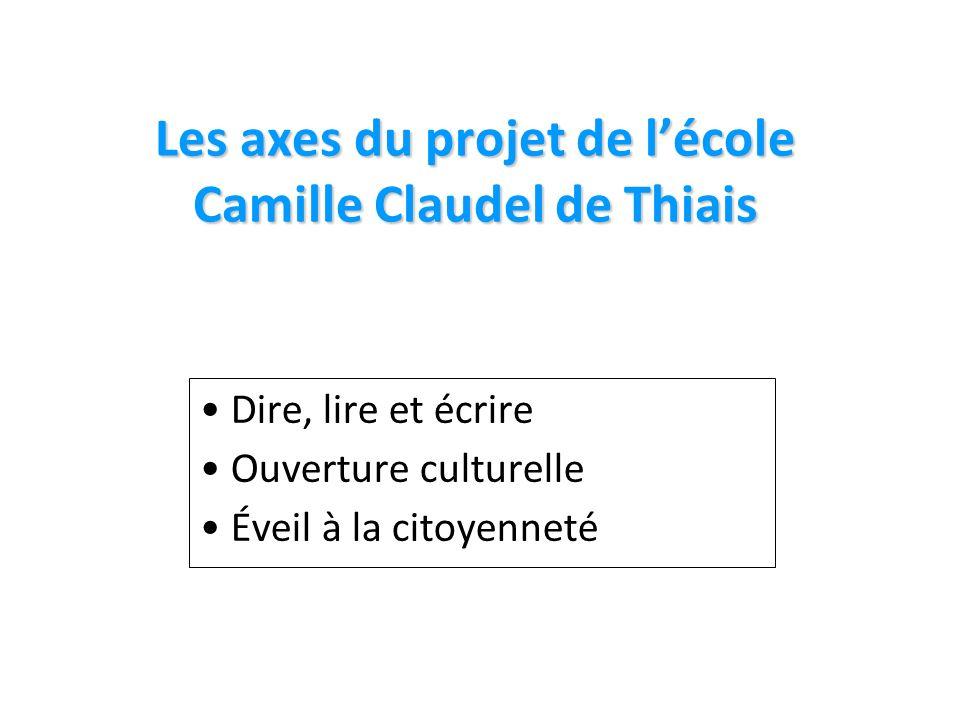 Les axes du projet de l'école Camille Claudel de Thiais