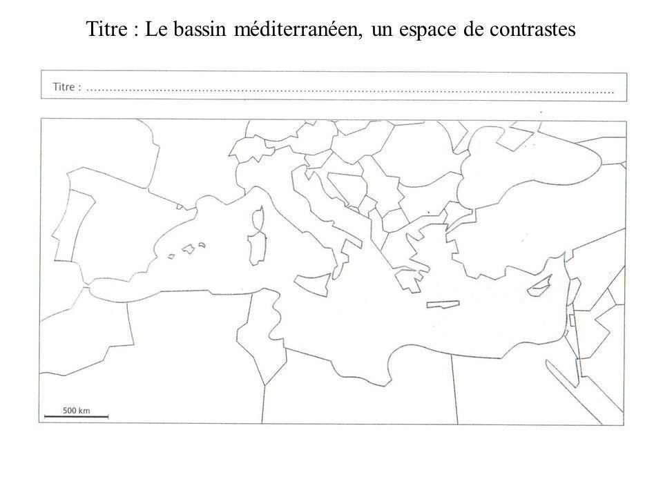 Titre : Le bassin méditerranéen, un espace de contrastes
