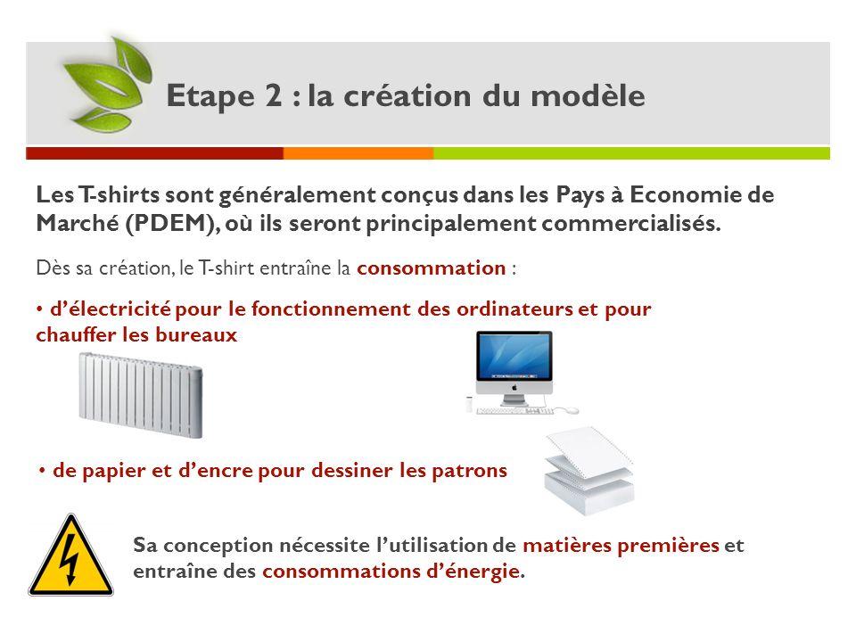 Etape 2 : la création du modèle