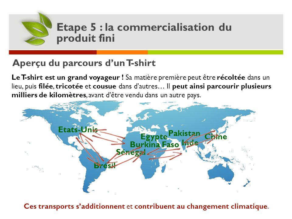Ces transports s'additionnent et contribuent au changement climatique.