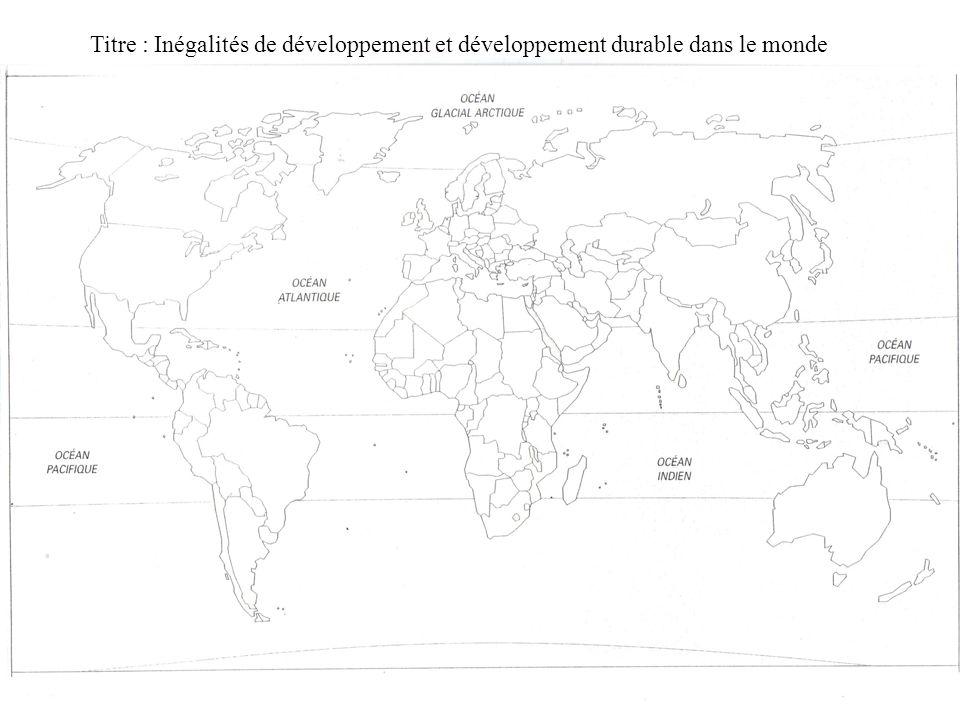Titre : Inégalités de développement et développement durable dans le monde