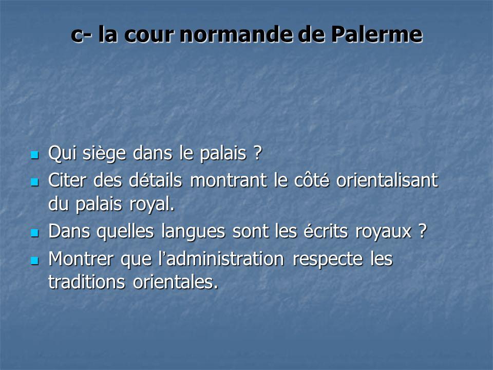 c- la cour normande de Palerme