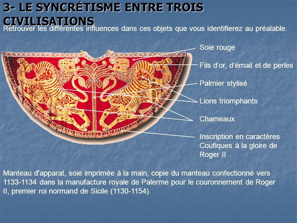 3- LE SYNCRÉTISME ENTRE TROIS CIVILISATIONS