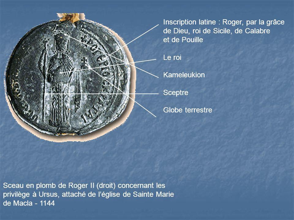 Inscription latine : Roger, par la grâce