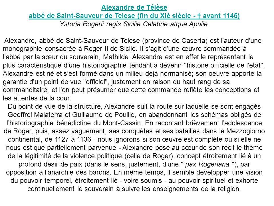 abbé de Saint-Sauveur de Telese (fin du XIè siècle - † avant 1145)