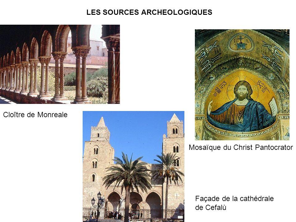 LES SOURCES ARCHEOLOGIQUES