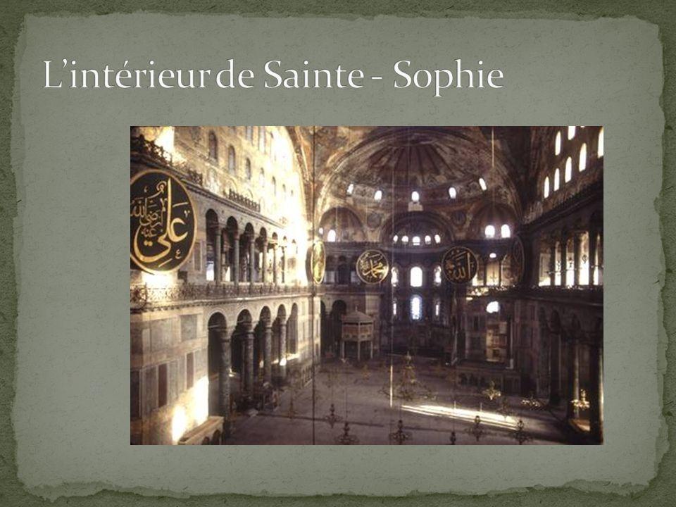 L'intérieur de Sainte - Sophie