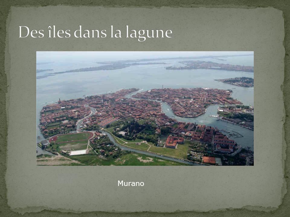 Des îles dans la lagune Murano