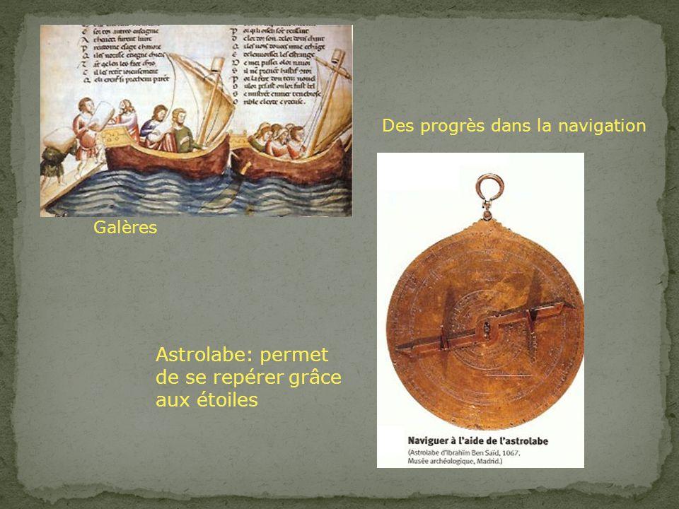Astrolabe: permet de se repérer grâce aux étoiles