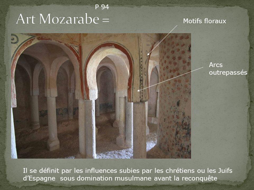 Art Mozarabe = P 94 Motifs floraux Arcs outrepassés