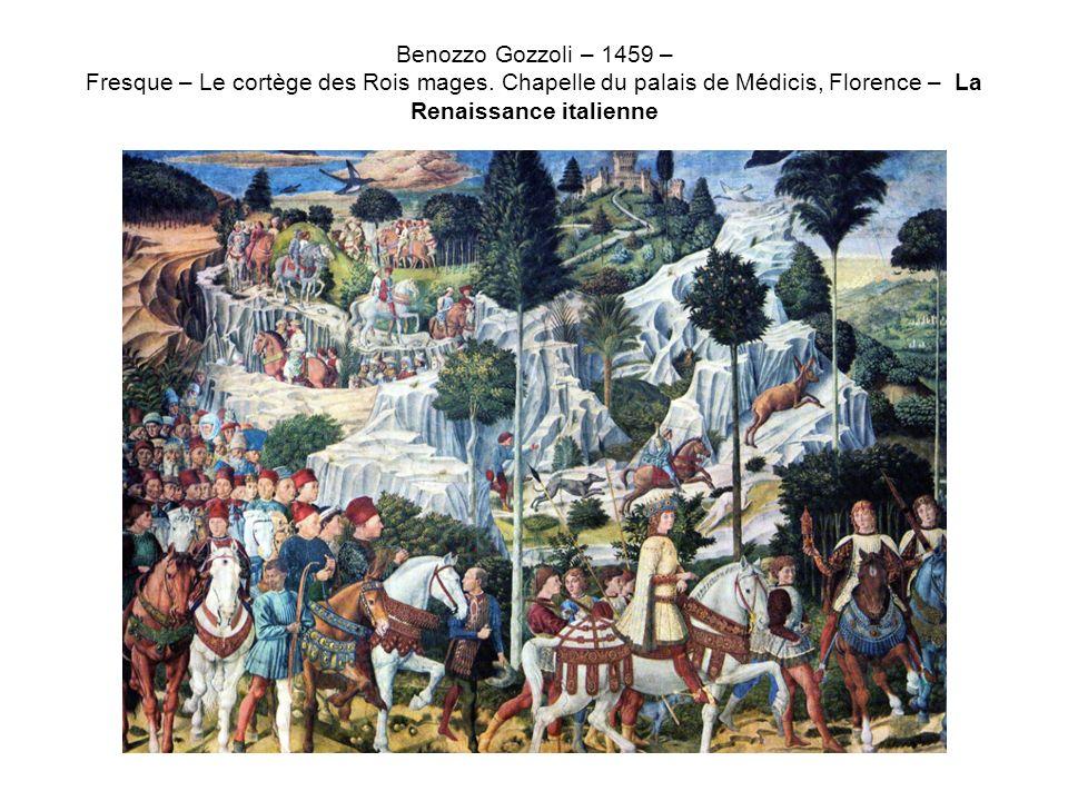 Benozzo Gozzoli – 1459 – Fresque – Le cortège des Rois mages
