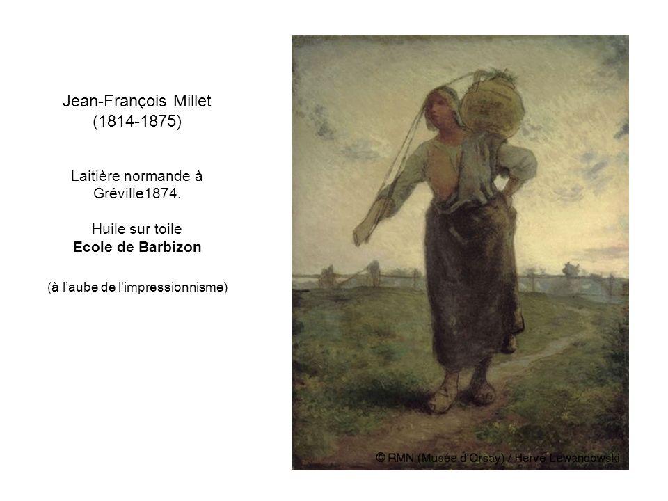 Jean-François Millet (1814-1875) Laitière normande à Gréville1874