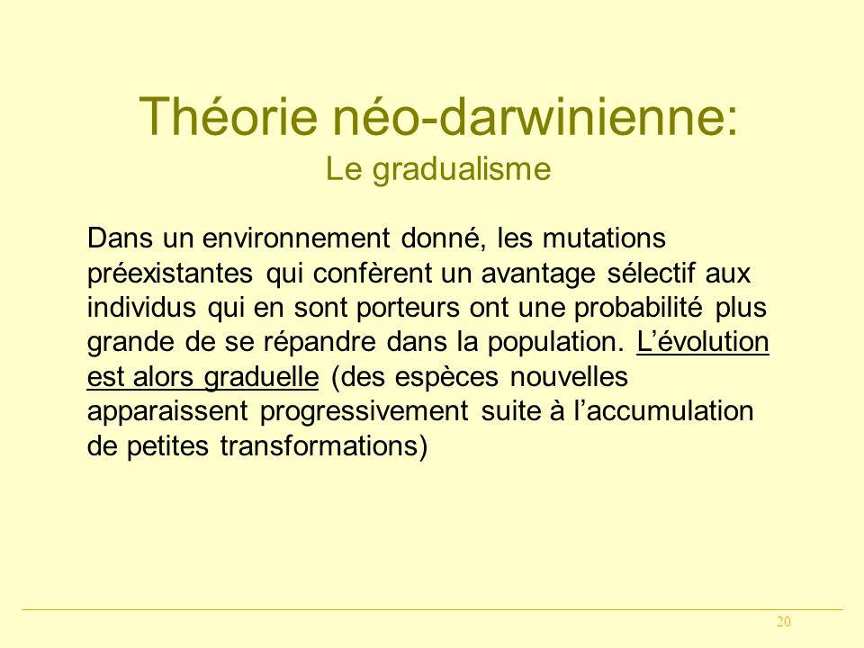 Théorie néo-darwinienne:
