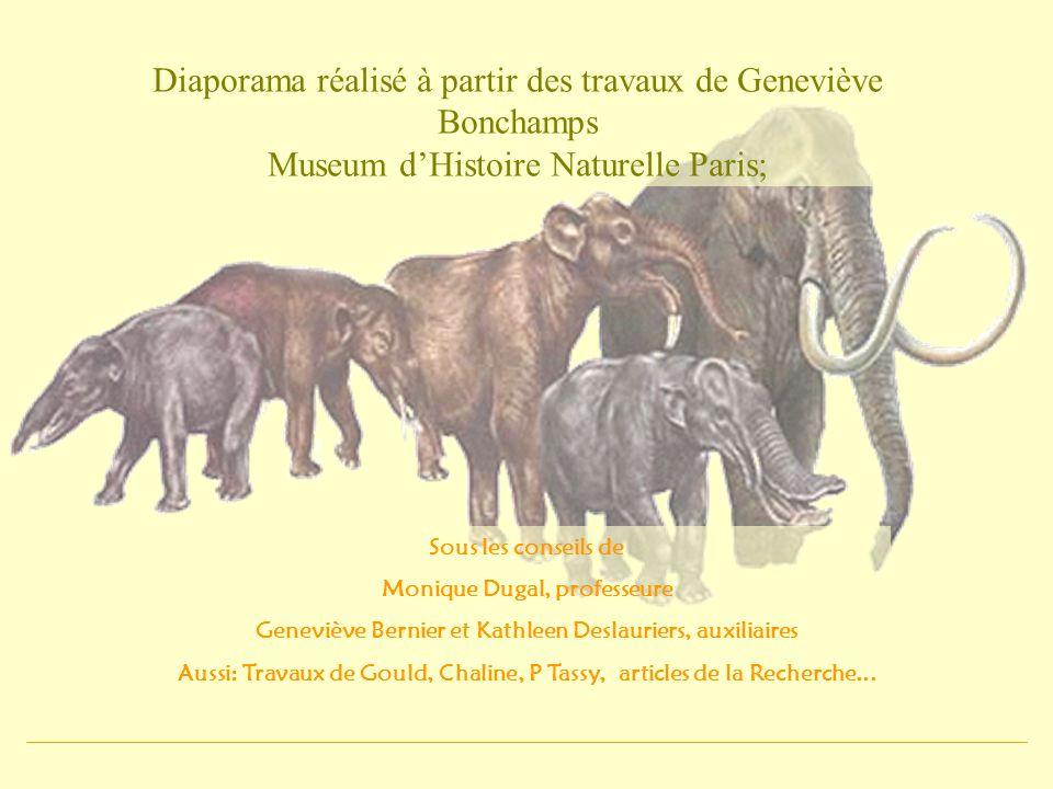 Diaporama réalisé à partir des travaux de Geneviève Bonchamps Museum d'Histoire Naturelle Paris;