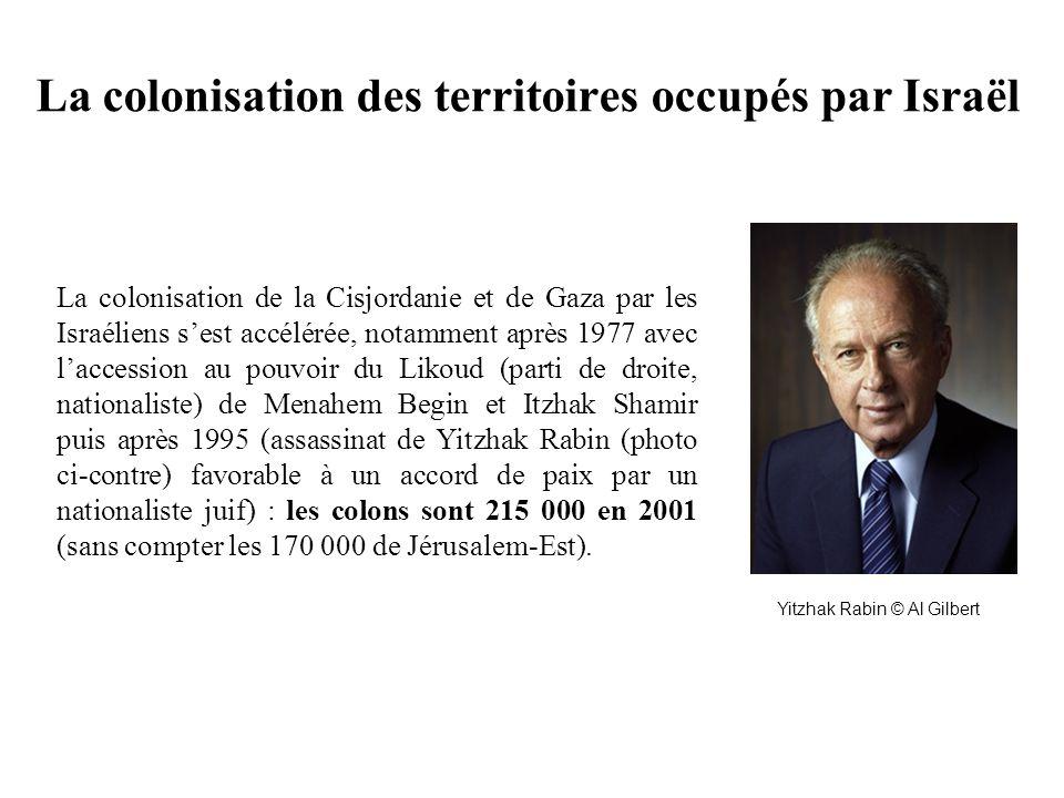 La colonisation des territoires occupés par Israël