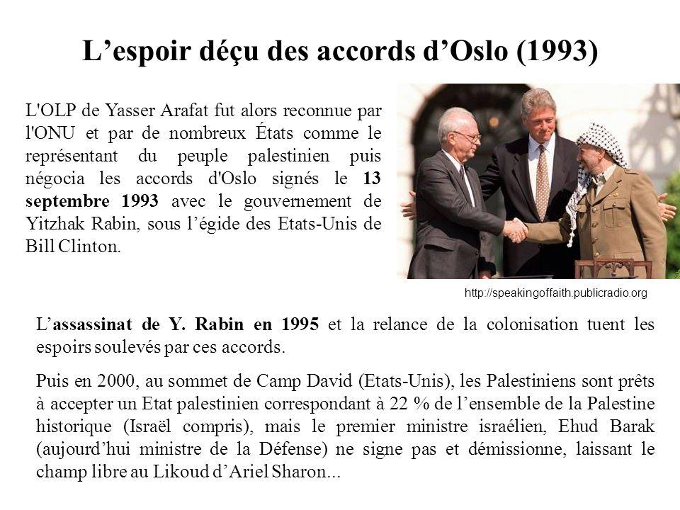 L'espoir déçu des accords d'Oslo (1993)