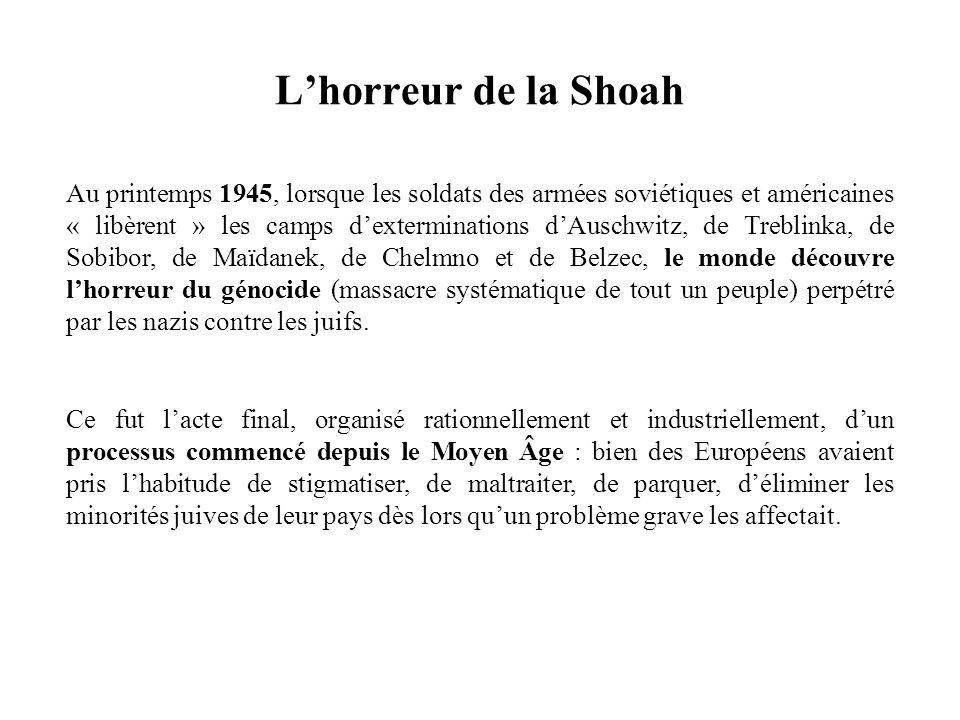 L'horreur de la Shoah