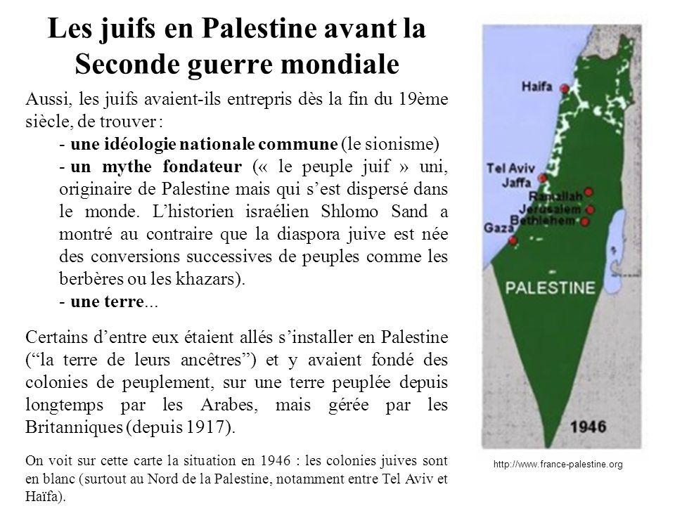 Les juifs en Palestine avant la Seconde guerre mondiale