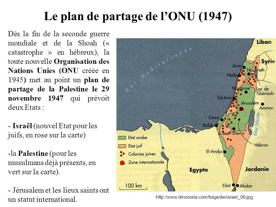 Le plan de partage de l'ONU (1947)