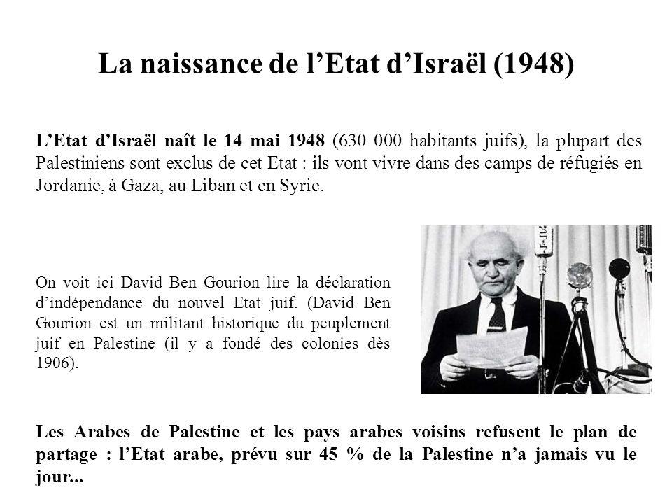 La naissance de l'Etat d'Israël (1948)