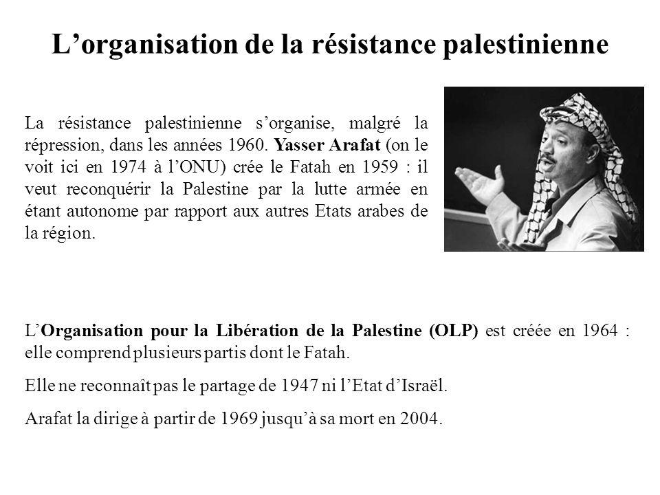 L'organisation de la résistance palestinienne
