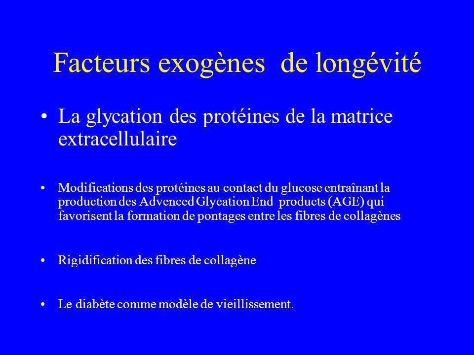 Facteurs exogènes de longévité