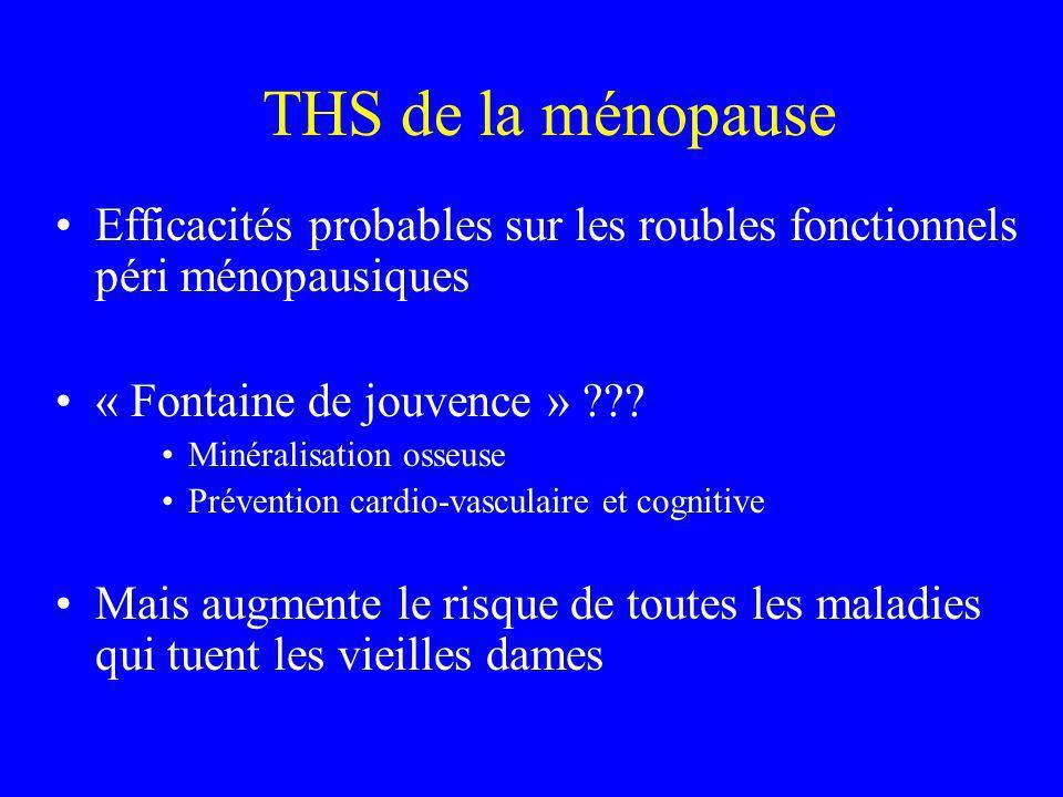THS de la ménopause Efficacités probables sur les roubles fonctionnels péri ménopausiques. « Fontaine de jouvence »