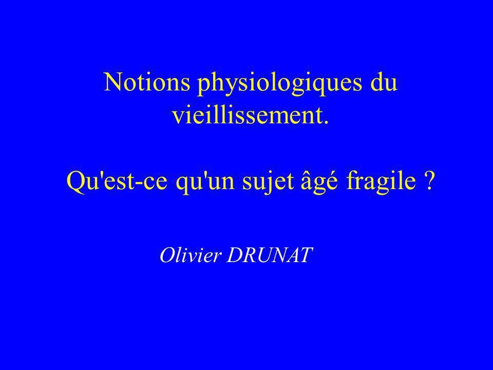 Notions physiologiques du vieillissement