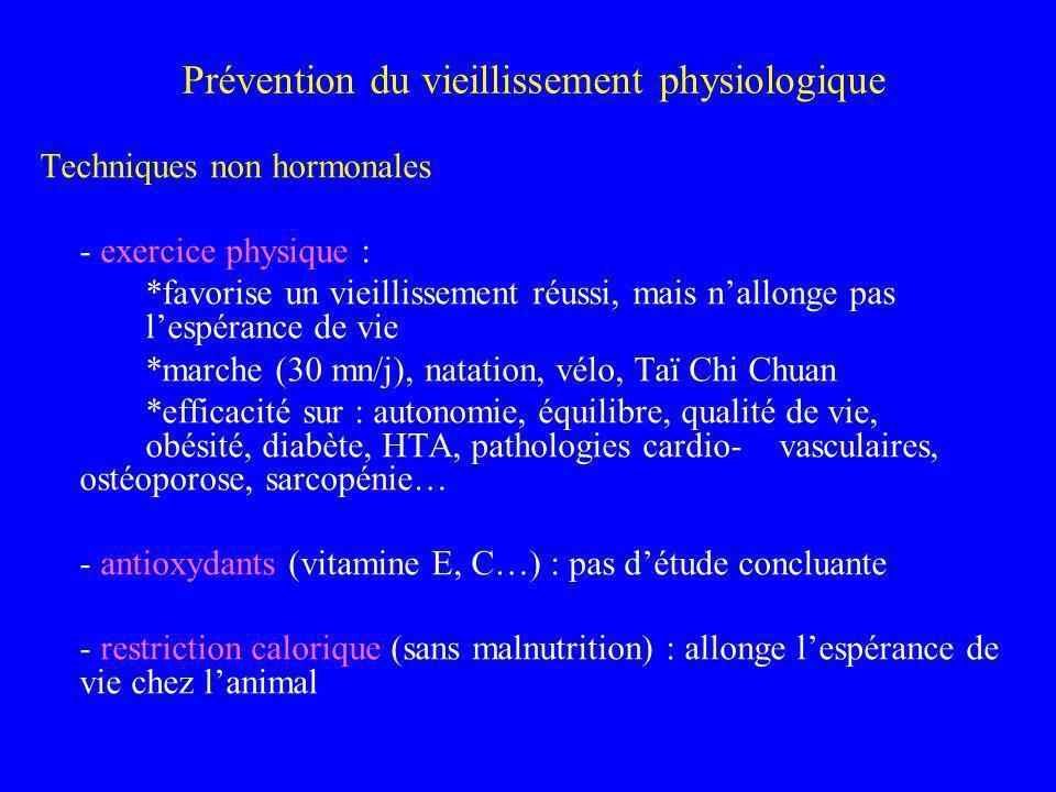 Prévention du vieillissement physiologique