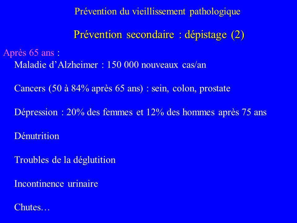 Prévention du vieillissement pathologique