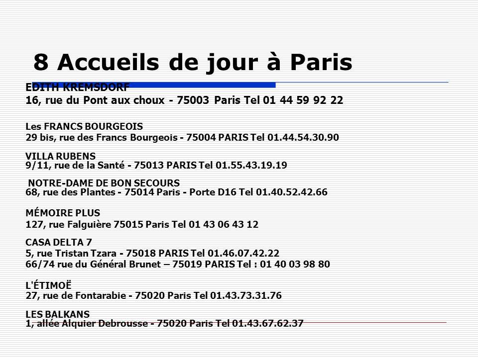 8 Accueils de jour à Paris