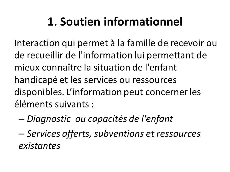 1. Soutien informationnel