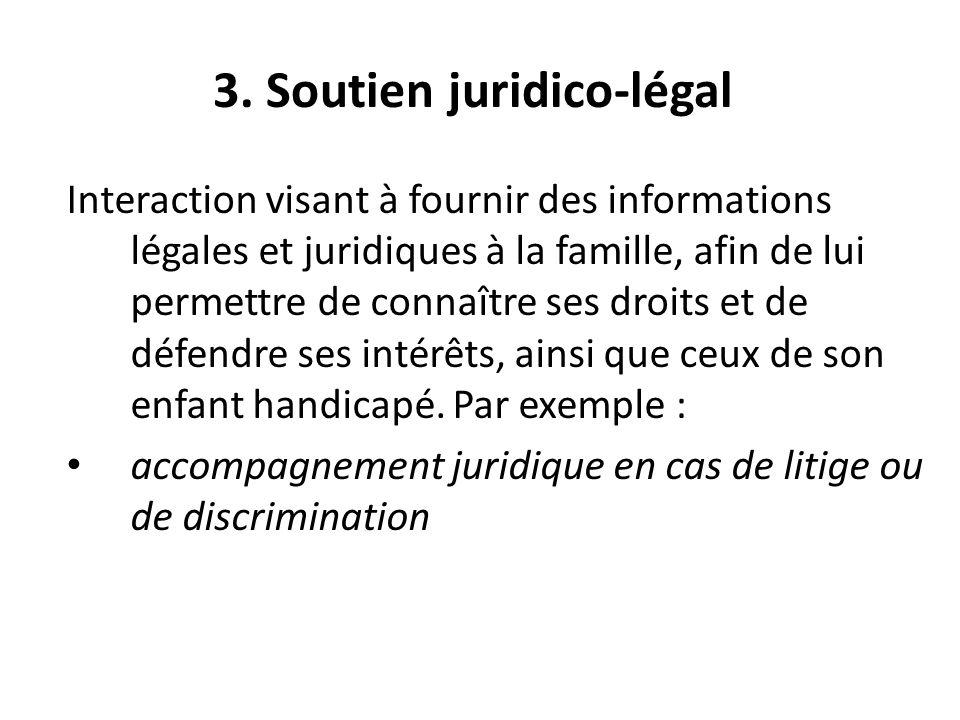 3. Soutien juridico-légal
