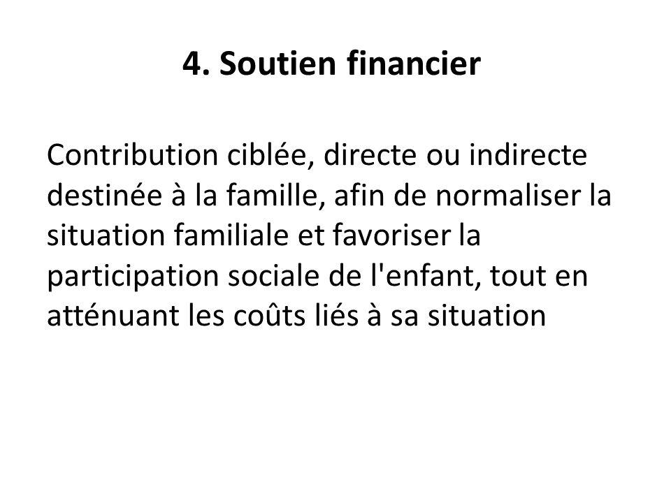 4. Soutien financier