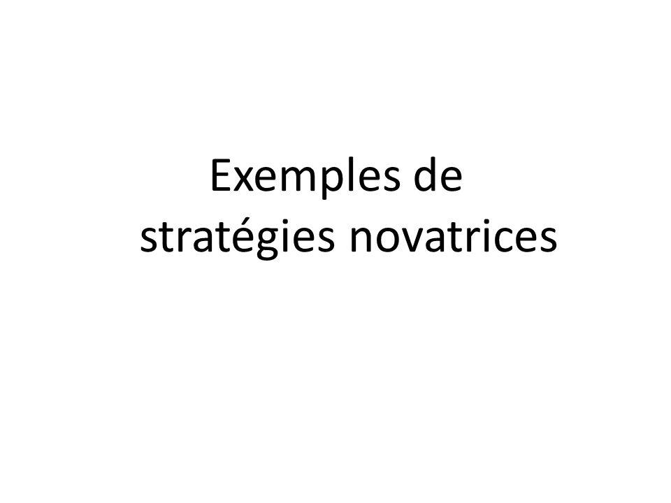 Exemples de stratégies novatrices