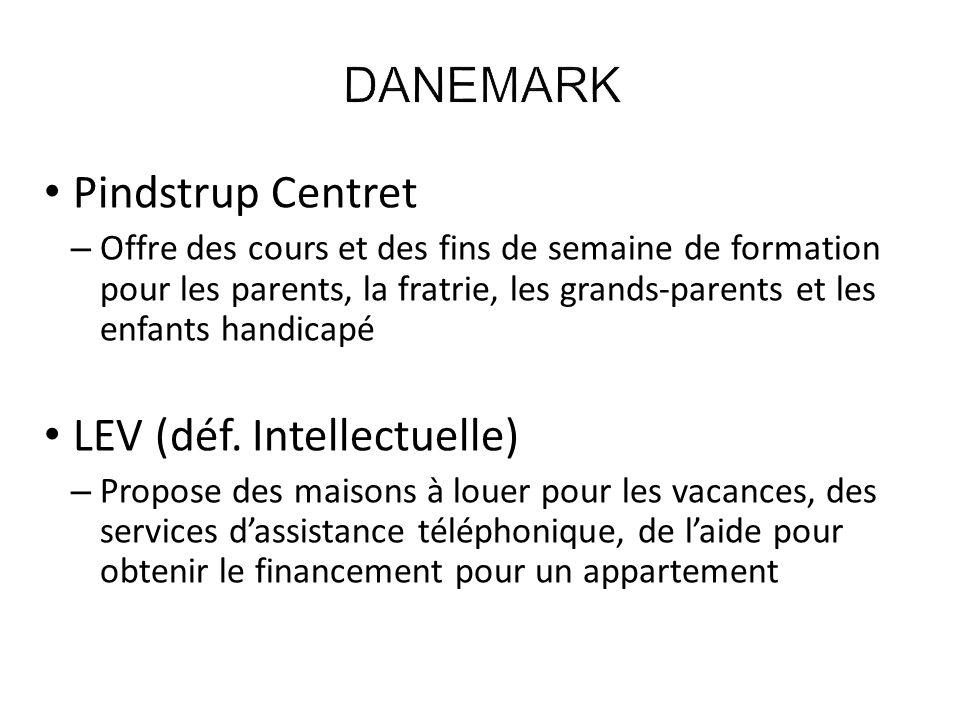 DANEMARK Pindstrup Centret LEV (déf. Intellectuelle)