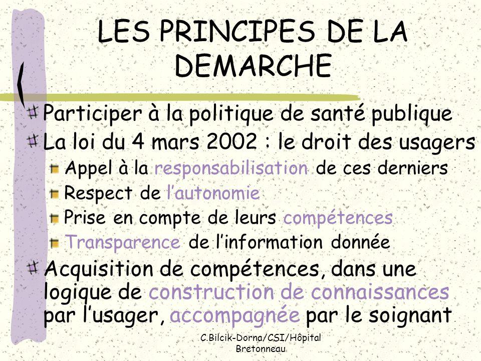 LES PRINCIPES DE LA DEMARCHE