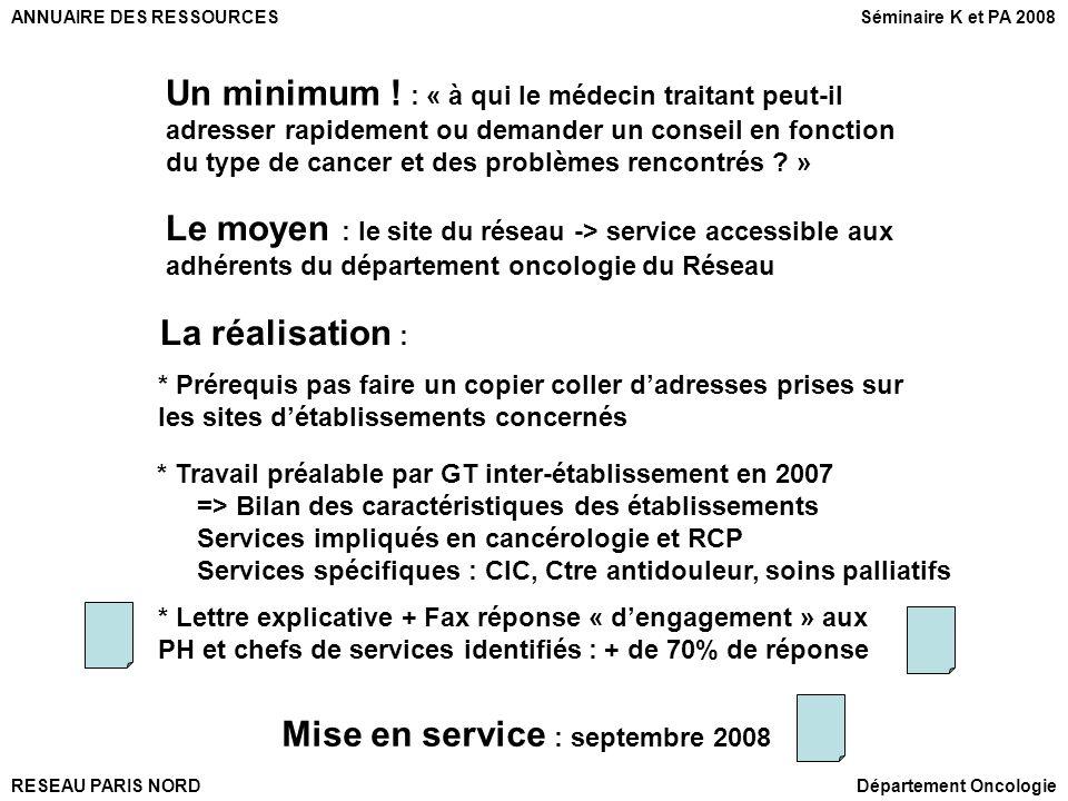 Mise en service : septembre 2008