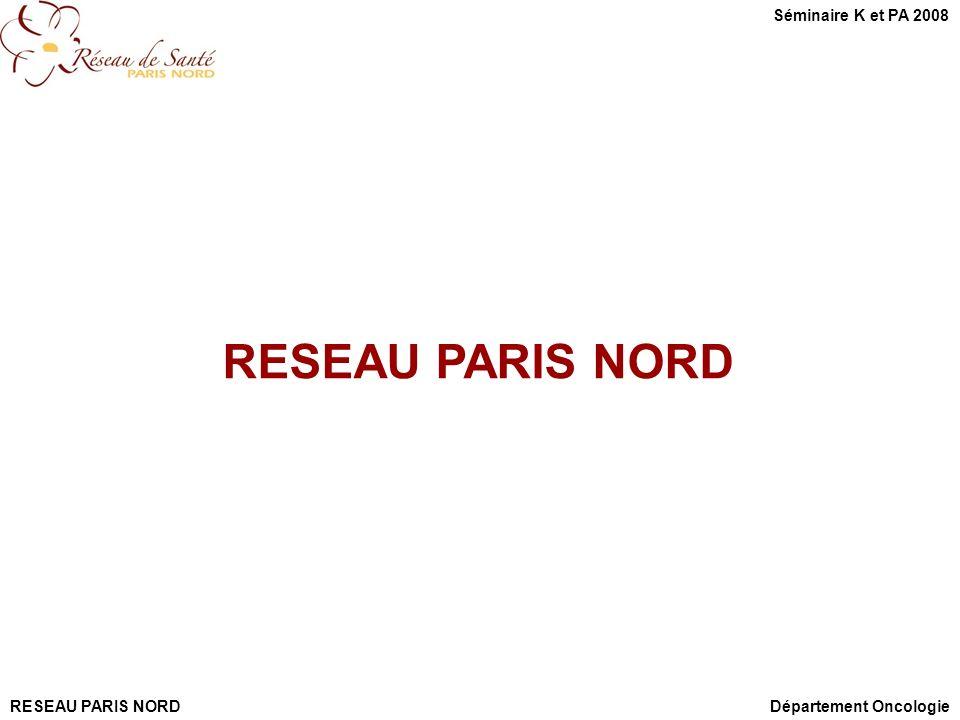 RESEAU PARIS NORD Séminaire K et PA 2008 RESEAU PARIS NORD